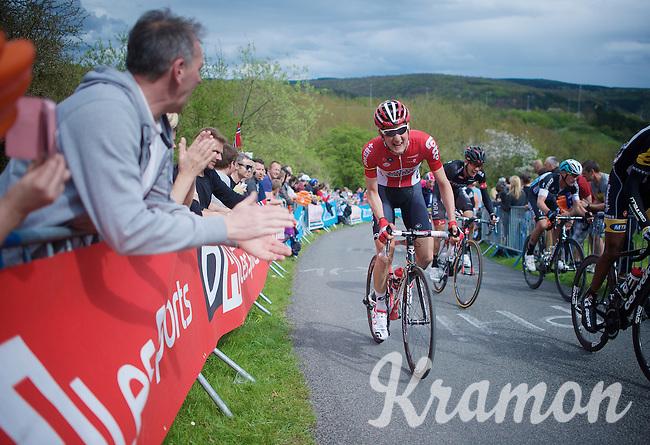 Tim Wellens (BEL/Lotto-Soudal) biting his way up La Redoute (1650m/9.7%)<br /> <br /> 101th Liège-Bastogne-Liège 2015