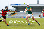 Fionan Mackessy, Kerry in action against Liam Savage, Down during the National hurling league between Kerry v Down at Austin Stack Park, Tralee on Sunday.