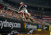Luke Styke / KTM<br /> 2015 Round 5 / Class : SX1<br /> Australian Supercross Championship / AUS-X Open<br /> Sydney NSW Saturday 28 November 2015<br /> © Sport the library / Jeff Crow