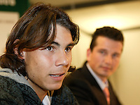 19-2-06, Netherlands, tennis, Rotterdam, ABNAMROWTT, Nadal pressconference where he explaines his absense.