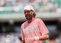 Paris, France, 28 May, 2017, Tennis, French Open, Roland Garros, Match on court Philippe Chatrier (centercourt)  Stephane Robert (FRA) <br /> Photo: Henk Koster/tennisimages.com