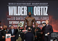LAS VEGAS - NOVEMBER 22:  Deontay Wilder attends the weigh in for the November 23 fight on the Fox Sports PBC Pay-Per-View Fight Night on November 22, 2019 in. Las Vegas, Nevada. (Photo by Scott Kirkland/Fox Sports/PictureGroup)