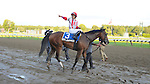 Spurious Precision (no. 3), ridden by Alan Garcia and trained by Richard Violette Jr., wins the 107th running of the grade 2 Saratoga Special Stakes for two year olds on August 12, 2012 at Saratoga Race Track in Saratoga Springs, New York.  (Bob Mayberger/Eclipse Sportswire)