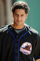 OF Fernando Martinez of the Buffalo Bisons, the AAA International League affiliate of the New York Mets.. at McCoy Stadium in Pawtucket, RI 5-19-09 (Photo by Ken Babbitt/Four Seam Images)