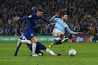 Bernardo Silva of Manchester City is fouled by N'Golo Kante of Chelsea during the Carabao Cup Final match between Chelsea and Manchester City at Stamford Bridge on February 24th 2019 in London, England. (Photo by Paul Chesterton/phcimages.com)<br /> Foto PHC Images / Insidefoto <br /> ITALY ONLY