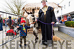 Zack Houlihan from Caragh Lake came to Killorglin on Saturday to see Santa and decided to meet The Wise Man (Frank Cronin) and his beautiful donkey, Jacob while he was waiting.