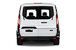 Straight rear view of 2021 Ford Transit-Connect XL 4 Door Car Van Rear View  stock images