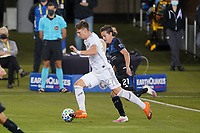 SAN JOSE, CA - NOVEMBER 4: Tristan Blackmon #27 of LAFC during a game between Los Angeles FC and San Jose Earthquakes at Earthquakes Stadium on November 4, 2020 in San Jose, California.