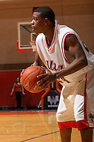 SAN ANTONIO, TX - NOVEMBER 10, 2006: The Texas A&M International University Dustdevils vs. The University of Texas at San Antonio Roadrunners Men's Basketball at the UTSA Convocation Center. (Photo by Jeff Huehn)