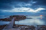 Bare Island after sunset, La Perouse, Sydney, NSW, Australia