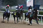 January 23, 2021: Hunka Burning Love (5) with jockey David Cabrera aboard during the Fifth Season Stakes at Oaklawn Racing Casino Resort in Hot Springs, Arkansas on January 22, 2021. Justin Manning/Eclipse Sportswire/CSM