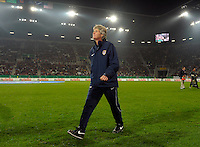 USA Head Coach Pia Sundhage. US Women's National Team vs Germany at Impuls Arena in Augsburg, Germany on October 27, 2009.