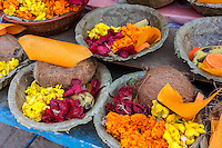 Nepal, Patan.  Offering Baskets at a Hindu Temple.