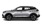 Car Driver side profile view of a 2021 Peugeot 2008 Allure 5 Door SUV Side View