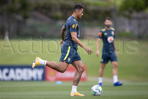 12th November 2020; Granja Comary, Teresopolis, Rio de Janeiro, Brazil; Qatar 2022 World Cup qualifiers; Danilo of Brazil during training session