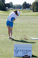 6th September 2021: Toledo, Ohio, USA;  Leona Maguire of Team Europe warms up on the practice range before playing her singles match in the Solheim Cup on September 6, 2021 at Inverness Club in Toledo, Ohio.