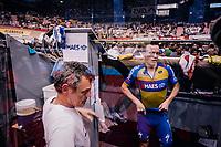 Iljo Keisse (BEL/Deceuninck-QuickStep) prepping to race again<br /> <br /> zesdaagse Gent 2019 - 2019 Ghent 6 (BEL)<br /> day 3<br /> <br /> ©kramon