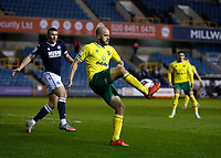 2nd February 2021; The Den, Bermondsey, London, England; English Championship Football, Millwall Football Club versus Norwich City; Teemu Pukki of Norwich City crossing the ball