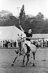 Prince Charles playing polo at the Ham Polo Club Surrey, UK 1980s. 1981