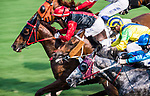 Horse Country Melody #6 ridden by Brett Prebble (red cap) competes during the race 7 of HKJC Horse Racing 2017-18 at the Sha Tin Racecourse on 16 September 2017 in Hong Kong, China. Photo by Victor Fraile / Power Sport Images