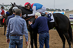DEL MAR, CA  AUGUST 29: #2 Medina Spirit gets a hug from jockey John Velasquez and  trainer Bob Baffert after winning the Shared Belief Stakes on August 29, 2021 at Del Mar Thoroughbred Club in Del Mar, CA. (Photo by Casey Phillips/Eclipse Sportswire/CSM)