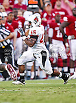 Ball State Cardinals running back Dwayne Donigan (45) in action during the game between the Ball State Cardinals  and the Oklahoma Sooners at the Oklahoma Memorial Stadium in Norman, Oklahoma. OU defeats Ball State 62 to 6.