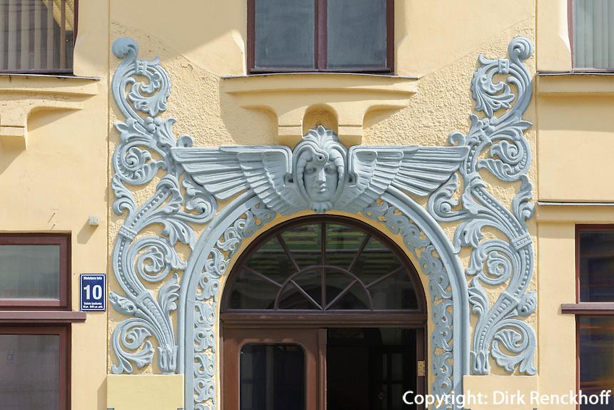 Jugendstilhaus in Riga, Lettland, Europa, Unesco-Weltkulturerbe