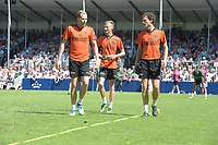 KAATSEN: FRANEKER: 01-08-2018, It Sjûkelân, PC Kaatspartij, Peter van Zuiden, Allard Hoekstra en Thomas van Zuiden hebben de 165ste PC gewonnen, in de finale versloegen zij het trio Gert-Anne van der Bos, Taeke Triemstra en Tjisse Steenstra (5-5 en 6-2), ©foto Martin de Jong