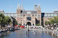 Nederland Amsterdam 2016 . Het Museumplein en het Rijksmuseum. Foto Berlinda van Dam / Hollande Hoogte