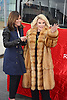 """Melissa Riversand Joan Rivers honored by Gray Line New York with a """"Ride of Fame"""" bus with their name on a decal in the front of the bus on March 1, 2013 at Pier 78 in New York City."""