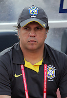 Brazil's Head Coach Rogerio stands on the field before the match against Germany during the FIFA Under 20 World Cup Quarter-final match at the Cairo International Stadium in Cairo, Egypt, on October 10, 2009. Germany lost 2-1 in overtime play.
