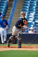 Michael Amditis (4) of Boaca Raton Community High School in Boca Raton, Florida playing for the Tampa Bay Rays scout team during the East Coast Pro Showcase on July 28, 2015 at George M. Steinbrenner Field in Tampa, Florida.  (Mike Janes/Four Seam Images)