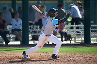 Joseph Hernandez (2) of Righetti High School in Santa Maria, California during the Baseball Factory All-America Pre-Season Tournament, powered by Under Armour, on January 13, 2018 at Sloan Park Complex in Mesa, Arizona.  (Art Foxall/Four Seam Images)