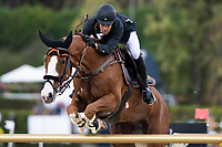 3rd October 2021;  Real Club de Polo, Barcelona, Spain; CSIO5 Longines FEI Jumping Nations Cup Final 2021; Eduardo Alvarez Aznar from Spain during the FEI Jumping Nations Cup Final 2021