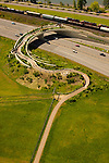 Aerial View of the Vancouver Land Bridge in Washington