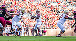 Boston College quarterback Anthony Brown throws near the Florida State end zone but gets picked off in the first quarter of an NCAA college football game in Tallahassee, Fla., Saturday, Nov. 17, 2018. (AP Photo/Mark Wallheiser)