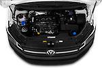 Car stock 2019 Volkswagen Caddy Van Base 4 Door Car van engine high angle detail view