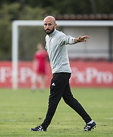 Watford Ladies Manager Armand Kavaja during the 2018/19 Pre Season Friendly match between Watford Ladies and Stevenage Ladies FC at Gaywood Park, Hempstead Road, England on 16 August 2018. Photo by Andy Rowland.