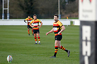 PENALTY - Tom Hodgson of Richmond Rugby sizes up the kick during the English National League match between Richmond and Blackheath  at Richmond Athletic Ground, Richmond, United Kingdom on 4 January 2020. Photo by Carlton Myrie.