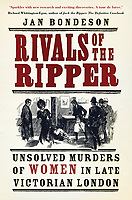 BNPS.co.uk (01202) 558833.<br /> Pic: JanBondeson/HistoryPress/BNPS<br /> <br /> Pictured: The front cover of Rivals of the Ripper by Jan Bondeson.<br /> <br /> A historian believes he has solved the gruesome 124 year old murder of a barmaid on a London train.<br /> <br /> Elizabeth Camp was travelling to Waterloo station when she was murdered on February 11, 1897.<br /> <br /> The 33 year old's battered body was found by a carriage cleaner with her head wedged underneath a seat and her legs outstretched on the floor.<br /> <br /> Over a century later, historian Dr Jan Bondeson has pored over the evidence in the case, including police files, to try and identify her killer.<br /> <br /> He believes the person responsible for her brutal death was 25 year old Arthur Marshall, the son of a Reading publican, and has outlined his theory in his new book, Rivals of the Ripper.