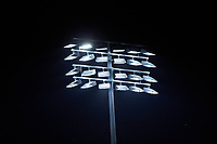 A detail view of the lights during the game between the Clemson Tigers and the Duke Blue Devils in Game Three of the 2017 ACC Baseball Championship at Louisville Slugger Field on May 23, 2017 in Louisville, Kentucky. The Blue Devils defeated the Tigers 6-3. (Brian Westerholt/Four Seam Images)