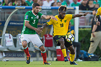 Pasadena, CA - Sunday July 23, 2017: Jamaica defeated Mexico 1-0 in a 2017 Gold Cup Semifinal match at the Rose Bowl to advance on to the Final versus USA.