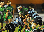 Connacht's George Naoupu is tackled by Cardiff Blues' Josh Turnbull<br /> Guiness Pro12<br /> Cardiff Blue v Connacht<br /> BT Sport Cardiff Arms Park<br /> 06.03.15<br /> ©Ian Cook -SPORTINGWALES