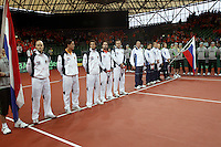 10-2-06, Netherlands, tennis, Amsterdam, Daviscup.Netherlands Russia, Official Opening ceremony, lineup