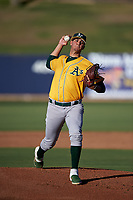 AZL Athletics Gold starting pitcher Pedro Santos (51) during an Arizona League game against the AZL Brewers Blue on July 2, 2019 at American Family Fields of Phoenix in Phoenix, Arizona. AZL Athletics Gold defeated the AZL Brewers Blue 11-8. (Zachary Lucy/Four Seam Images)