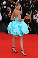 """VENICE, ITALY - AUGUST 28: Jasmine Sanders walks the red carpet ahead of the Opening Ceremony and the """"La Verite"""" (The Truth) screening during the 76th Venice Film Festival at Sala Grande on August 28, 2019 in Venice, Italy., 2019 in Venice, Italy. (Photo by Marck Cape/Inside Foto)<br /> Venezia 28/08/2019"""