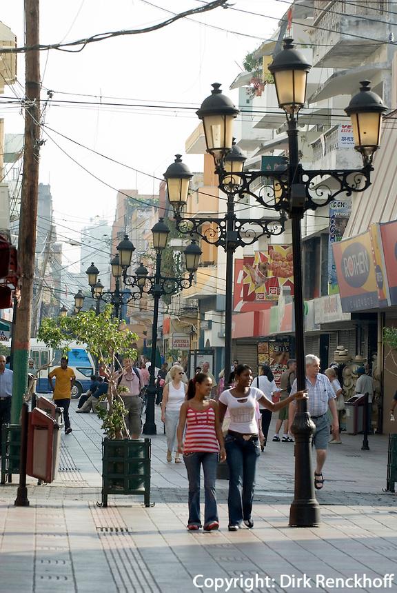 Fußgängerzone El Conde in Santo Domingo, Dominikanische Republik