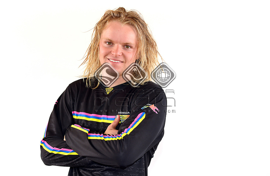 Portrait of MX2 rider Ben George<br /> MXN Round 1 - Broadford / Media <br /> 2014 Monster Energy MX Nationals<br /> Australian Motocross Championship<br /> Broadford Vic.  Saturday 29 March 2014<br /> © Sport the library / Jeff Crow