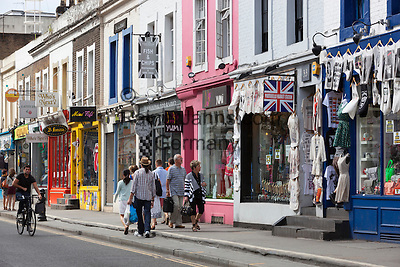 United Kingdom, London: Shops along Pembridge Road, Notting Hill W11   Grossbritannien, England, London: Shops along Pembridge Road, Notting Hill W11