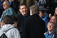 German comedian, Henning Wehn speaks to a fellow Wycombe Wanderers supporter ahead of kick-off during Leyton Orient vs Wycombe Wanderers, Coca Cola Football League Division One Football at Brisbane Road on 1st May 2010